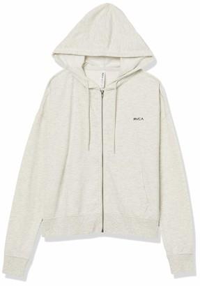RVCA Women's Small Zip UP Hooded Sweatshirt
