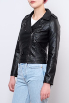 Only Cropped Faux Leather Jacket