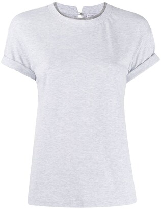 Brunello Cucinelli round-neck beaded T-shirt