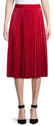 Time and Tru Womens Pleated Skirt