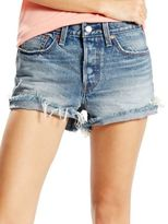 Levi's Wedgie Distressed Cut-Off Denim Shorts