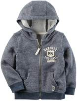 "Carter's Boys 4-8 Marled French Terry ""Varsity Football"" Zip Hoodie"