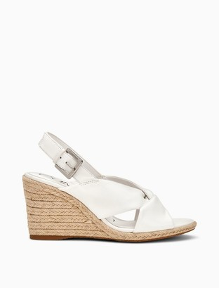 Calvin Klein Brennah Nappa Leather Wedge Sandal