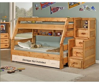 Milda Twin Over Full Bunk Bed with Stairway Chest Harriet Bee