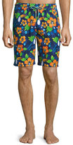 Peter Millar Tiki Toucan-Print Swim Trunks, Navy