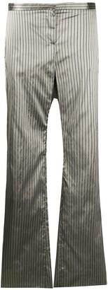 Romeo Gigli Pre Owned 1990s Metallic Pinstripe Trousers
