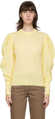 J.W.Anderson Yellow Ruched Shoulder Sweater