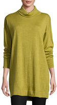 Eileen Fisher Merino Jersey Turtleneck Tunic