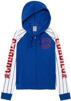 PINK Chicago Cubs Bling Funnel Neck Full-Zip