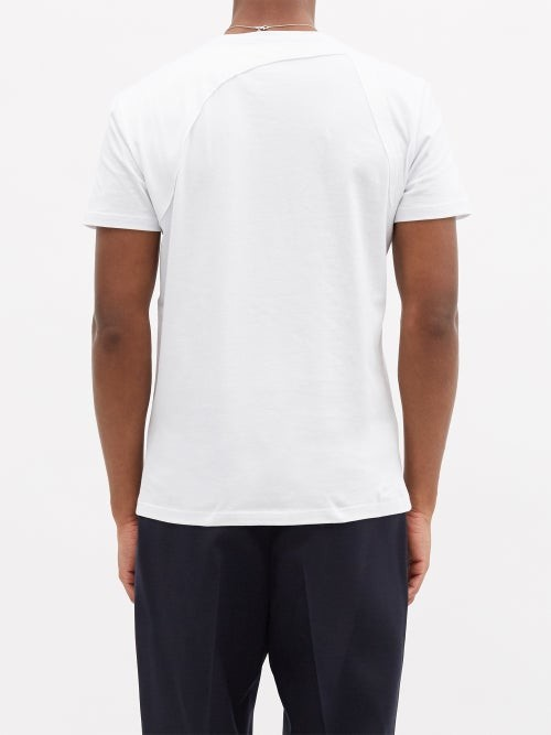 Thumbnail for your product : Alexander McQueen Harness Cotton-jersey T-shirt - White