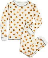 PJ Salvage Girls' Heart-Eyes Emoji Thermal Pajama Shirt & Pants Set