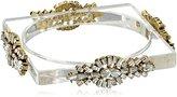 Erickson Beamon Rocks Clear Lucite Gold Bangle Bracelet
