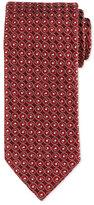 Eton Swirl-Print Silk Tie, Red
