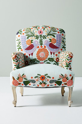 Anthropologie Jimena Occasional Chair By in Blue