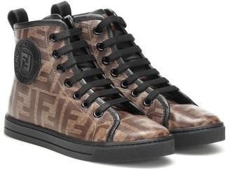 Fendi Double F high-top sneakers