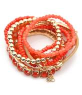 Riah Fashion Multicolor Beaded Stretch Bracelet