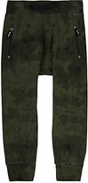 Munster Tie-Dyed Cotton Jersey Jogger Pants-GREEN