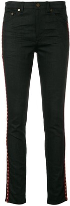 Saint Laurent Star Bands Skinny Jeans