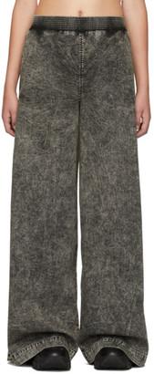 S.R. STUDIO. LA. CA. Black SOTO Mineral Wash Wide-Leg Jeans