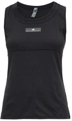 adidas by Stella McCartney Logo Print Cotton Blend Tank Top - Womens - Black