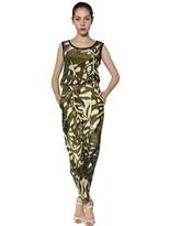 Giambattista Valli Jungle Printed Silk Crepe De Chine Top