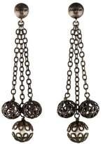 Lanvin Faux Pearl & Bead Tassel Earrings