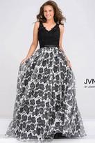 Jovani Embellished Bodice Floral Print Prom Ballgown JVN47921