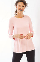 J. Jill Wearever 3/4-Sleeve Peplum Top