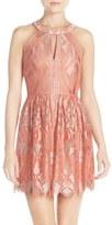 BCBGMAXAZRIA Women's 'Megyn' Lace Fit & Flare Dress