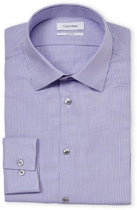 Calvin Klein Slim Fit Gingham Long Sleeve Dress Shirt