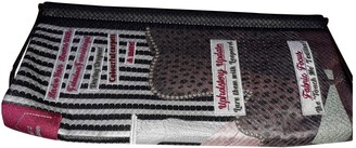 Charlotte Olympia Anthracite Cloth Clutch bags