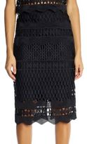 KENDALL + KYLIE Crochet Pencil Skirt