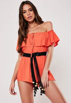Missguided Black Chunky Rope Belt