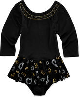 Jacques Moret Jacques Mort Long-Sleeve Studded Skirtall - Girls 7-16
