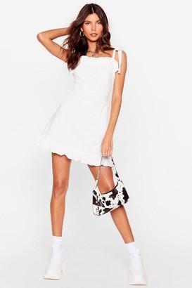 Nasty Gal Womens Can't Tie My Love Ruffle Mini Dress - White
