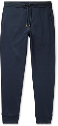 Orlebar Brown Freeman Tapered Webbing-Trimmed Cotton Drawstring Trousers
