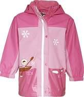 Playshoes Girl's Rain Coat with Fleece Lining