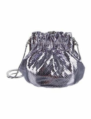 Marc Jacobs Embossed Metallic Evening Bag Metallic