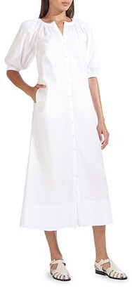 STAUD Vincent Maxi Shirtdress