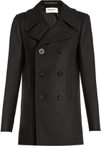 Saint Laurent Double-breasted wool pea coat