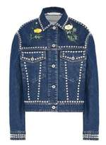 Stella McCartney Women's Blue Cotton Outerwear Jacket.
