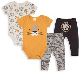 Pl Baby Baby Boy's 4-Piece Lion Bodysuit Pant Set