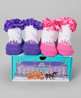 Dimples Purple & Pink Royal Wedding Two-Pair Socks Set