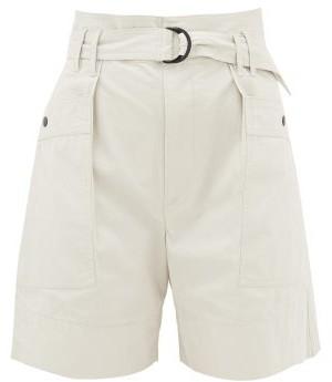Etoile Isabel Marant Zayna Cotton-twill Cargo Shorts - Ivory