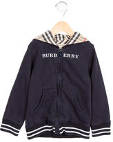 Burberry Boys' Logo Print Nova Check-Accented Sweatshirt