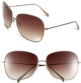 Oliver Peoples Women's Elsie 64Mm Oversize Metal Sunglasses - Walnut/ Brown Gradient