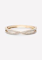 Bebe Crystal Crossover Bracelet