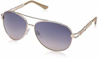 Laundry by Design Women's Ld281 Gldnd Non-Polarized Iridium Aviator Sunglasses Gold Nude 65 mm