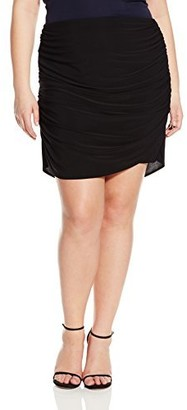 Star Vixen Women's Plus-Size Rouched Mini Skirt