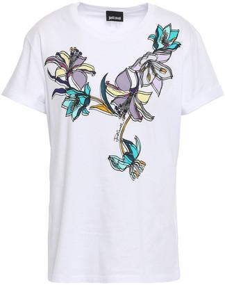 Just Cavalli Floral-print Stretch Cotton-jersey T-shirt